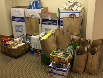 Systima Technologies Food Drive donations to Northwest Harvest