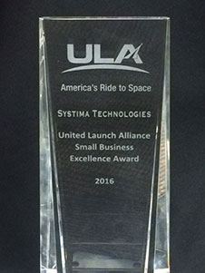 ULA Small Business Excellence Award - United Launch Alliance